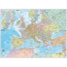 CARTA GEOGRAFICA MURALE EUROPA 99x132 BELLETTI