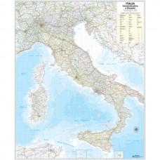 CARTA GEOGRAFICA MURALE ITALIA 122x97 BELLETTI