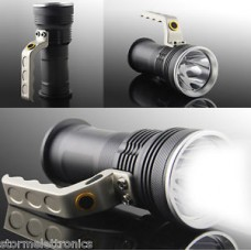 TORCIA LED T CREE T6 RICARICABILE 80000W 3900 LUMEN