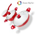 PADELLE RIVESTITE CERAMICA 5PZ CHEF PAN