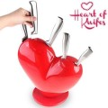 SET 5 COLTELLI  CEPPO CUORE HEART OF KNIFES